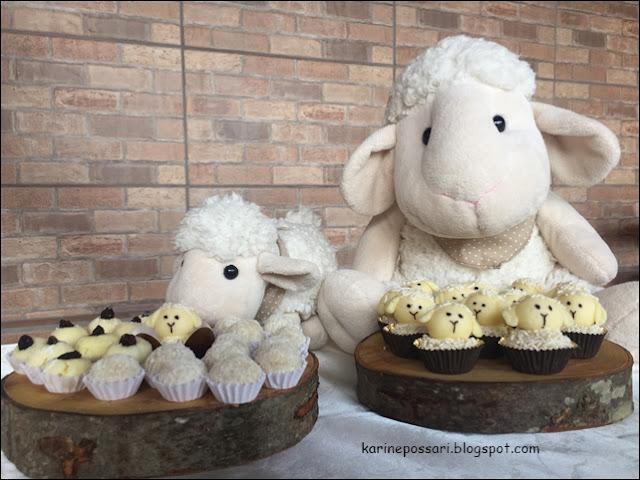 como fazer docinho em formato de ovelhinha