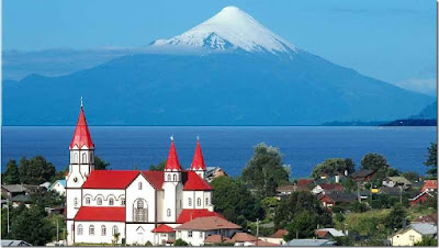 City of Puerto Varas, near Puerto Montt, Chile.