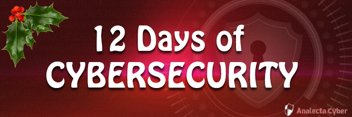 Analecta's twelve days of cybersecurity banner