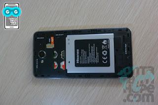 Smartfren Andromax E2+, posisi slot dan baterai