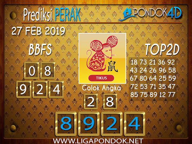 Prediksi Togel PERAK PONDOK4D 27 FEBRUARI 2019