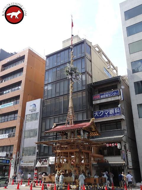 Hoko en préparation de la fête de Gion de Kyoto