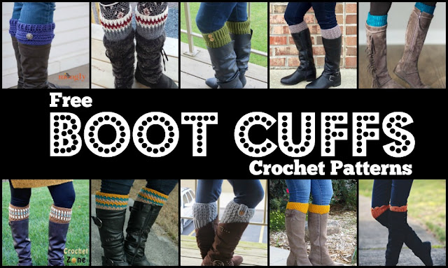 10 Free Boot Cuffs Crochet Patterns