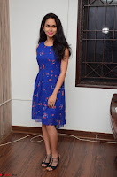 Pallavi Dora Actress in Sleeveless Blue Short dress at Prema Entha Madhuram Priyuraalu Antha Katinam teaser launch 079.jpg