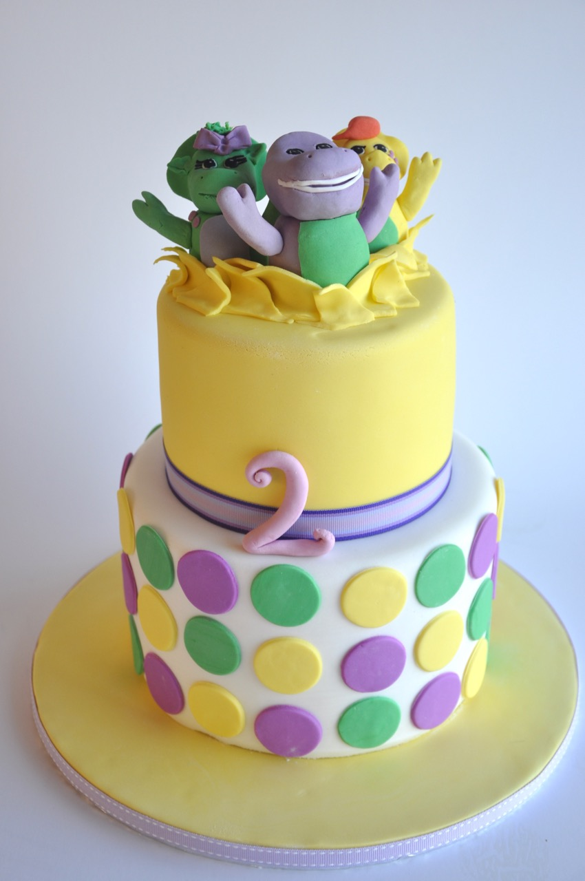 Barney Jump Out Cake