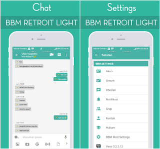 BBM Retroit Light Versi 3.2.5.12 Apk