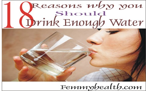 Reasons you should Drink enough water
