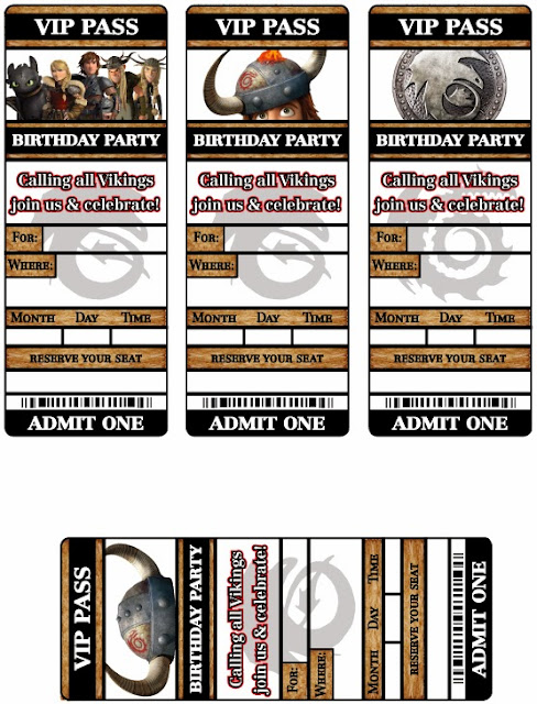 How to Train your Dragon 2 Free Printable Labels.