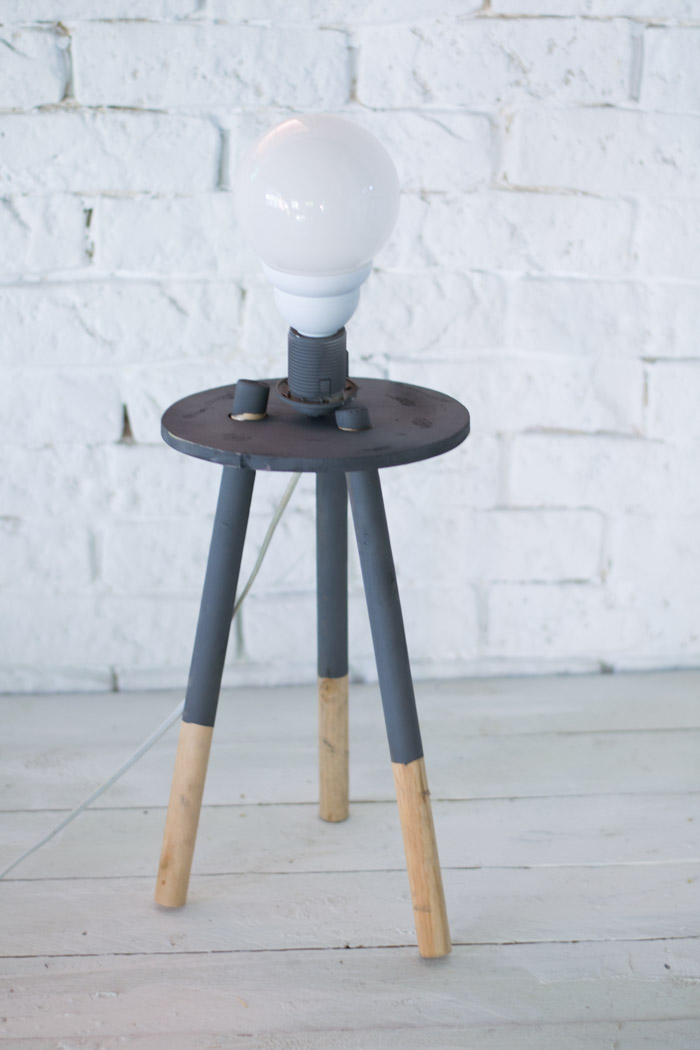 Lámpara nórdica madera diy