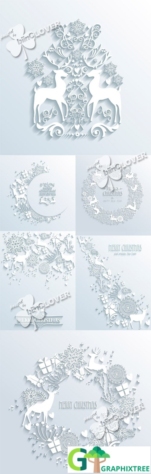 Vector Christmas 3D illustrations 0546
