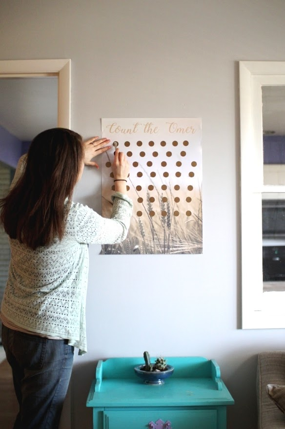 Scratch Off Omer Counter - easy DIY for the Feasts | Land of Honey
