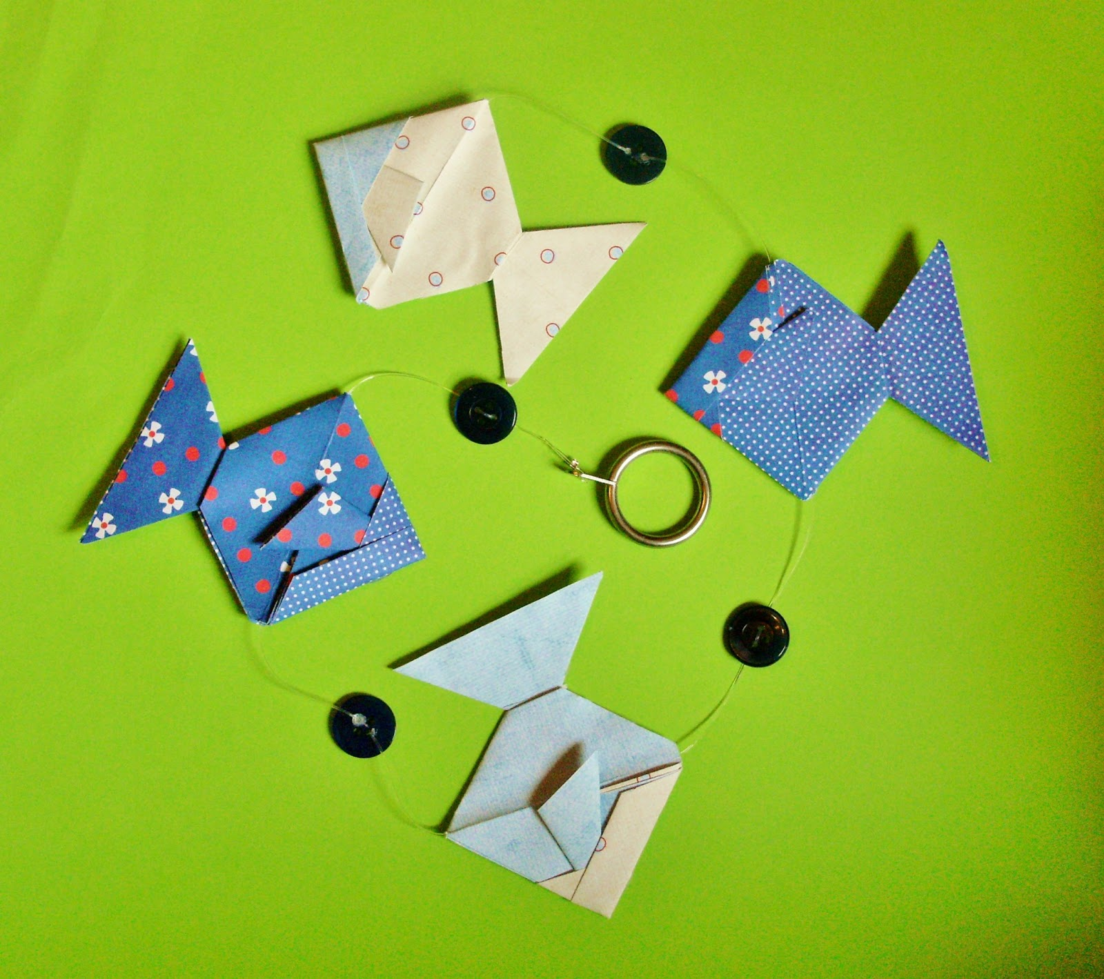 JewelOri: **NEW** Origami Fish Mobile Kit - as PDFs! - photo#38