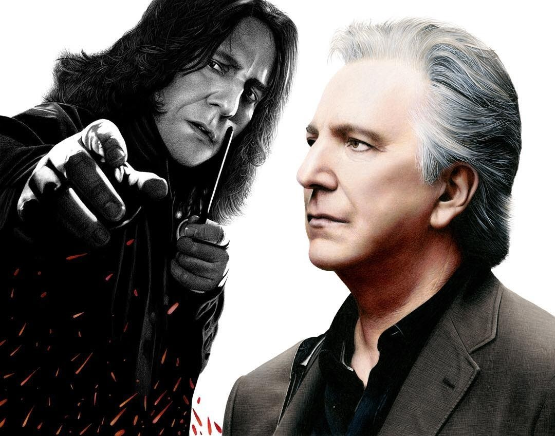 04-Alan-Rickman-Professor-Snape-Harry-Potter-Heather-Rooney-Photorealistic-Colored-Pencil-Drawing-Portraits-www-designstack-co