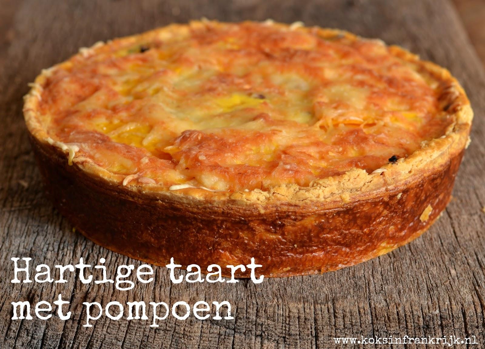 Iets anders met pompoen; hartige taart