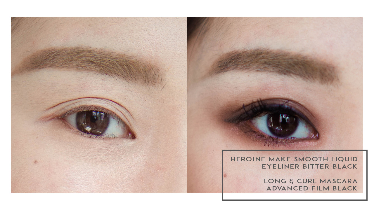 2 Looks with Heroine Make Smooth Eyeliner and Long & Curl Mascaras ...