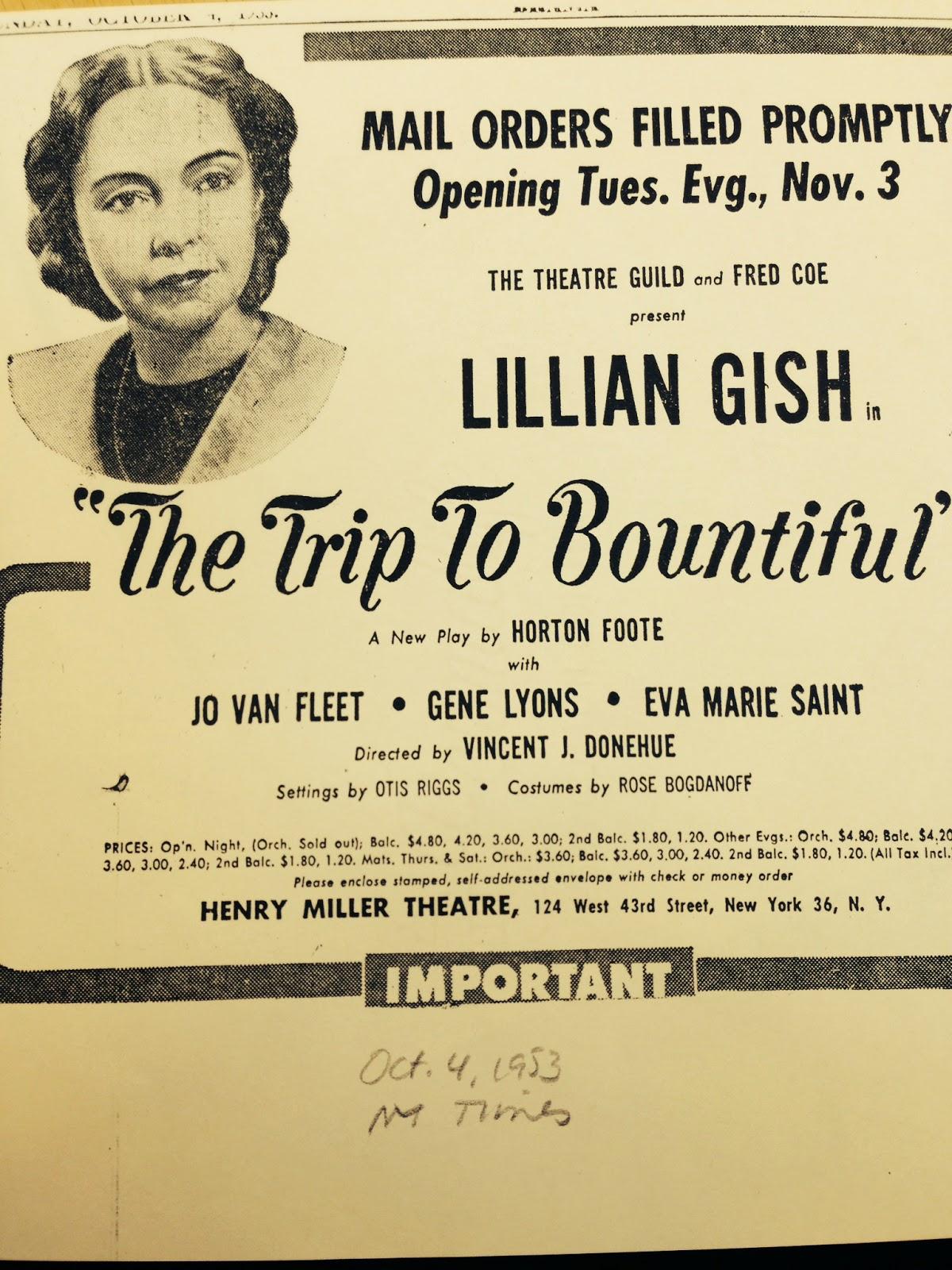 Entertainment Memorabilia Theater Crime And Punishment Lillian Gish In-person Signed Playbill