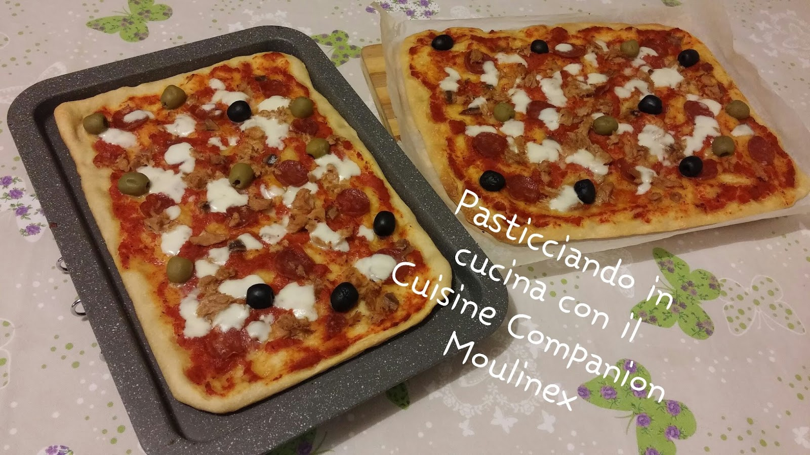 pasticciando in cucina con il cuisine companion moulinex pizza di letizia con il cuisine companion. Black Bedroom Furniture Sets. Home Design Ideas
