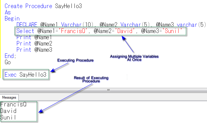Figure 6: Multiple Variable Assignments in Single Statement