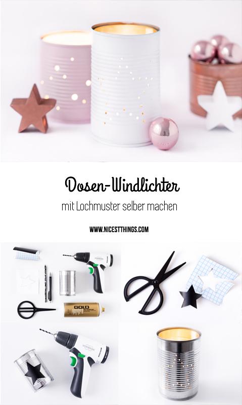 tischdeko weihnachten diy dosen windlicht in weiss rosa. Black Bedroom Furniture Sets. Home Design Ideas
