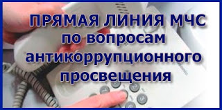 (ФОТО)Прямая линия МЧС антикоррупционное просвещение