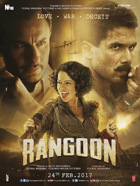 Rangoon , Rangoon Poster, Rangoon Saif Ali Khan, Rangoon Kangana Ranaut, Rangoon Shahid Kapoor