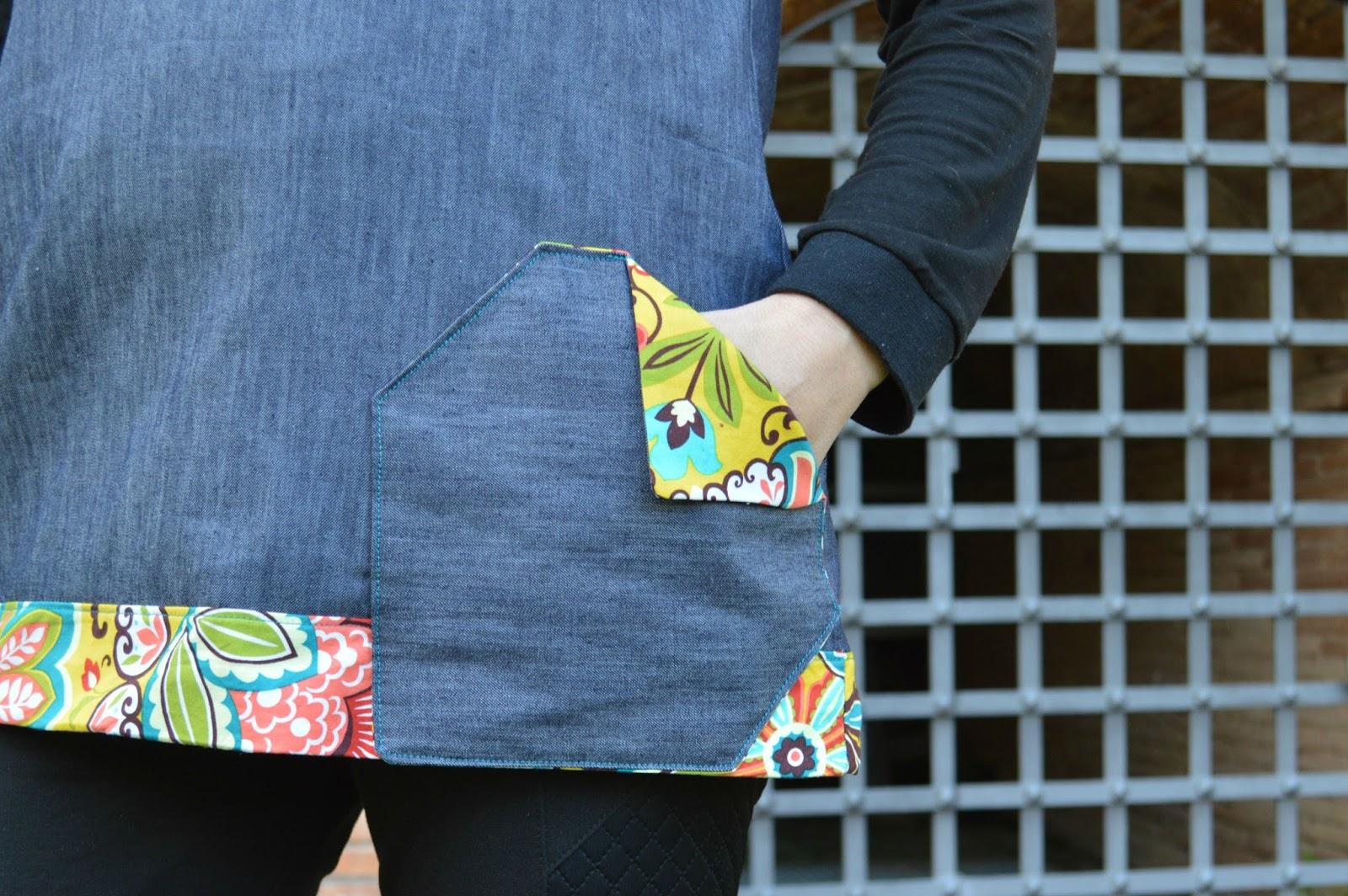 Detalle bolsillo vestido mujer tejano uVe