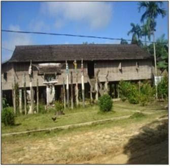 Rumah Adat Betang Asal Suku Dayak Kalimantan Tengah