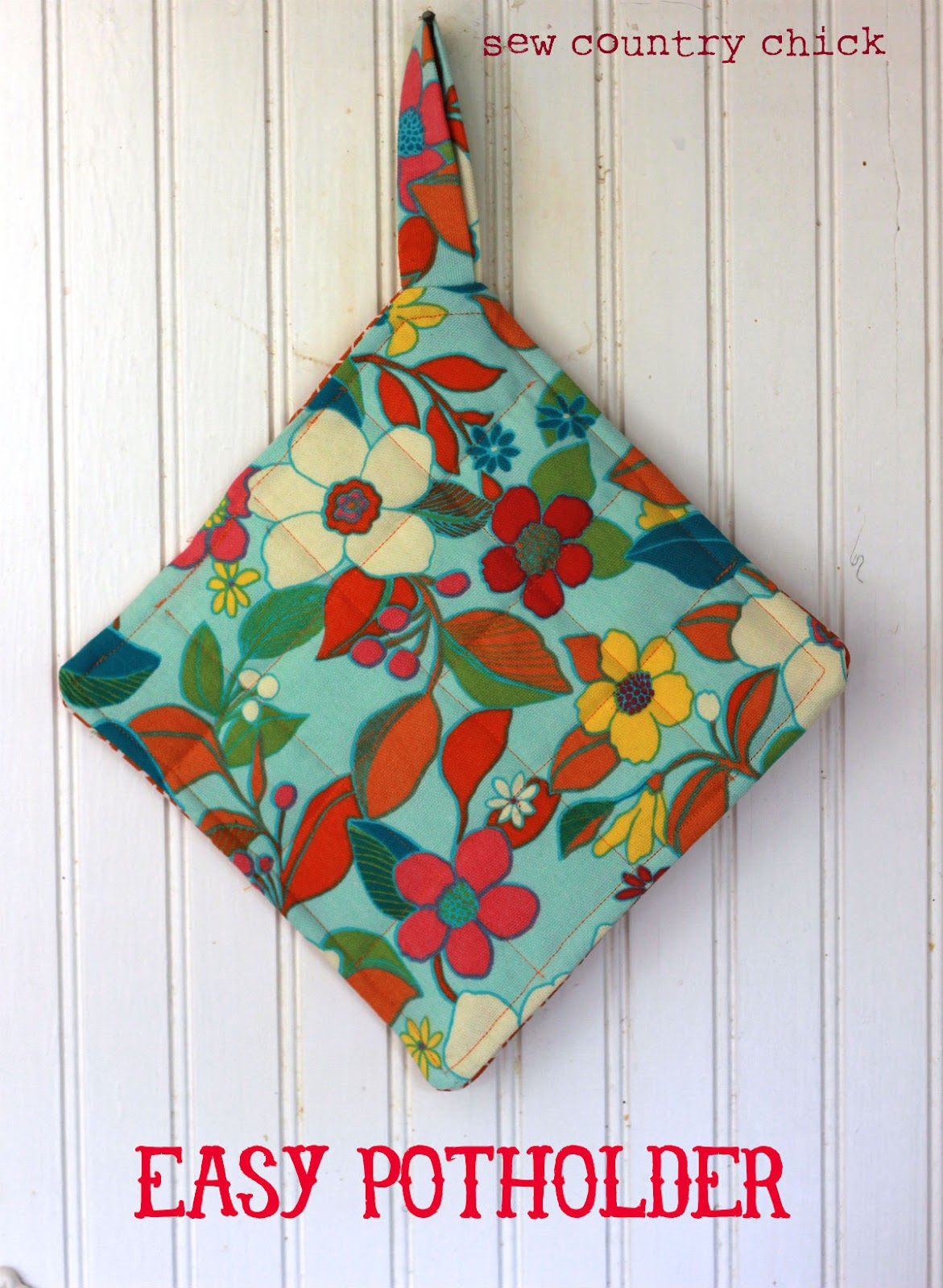 Easy Sewing Projects For Beginners: Sewing With Kids: Easy Potholder