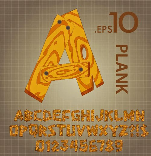 Plank Vector Alphabet