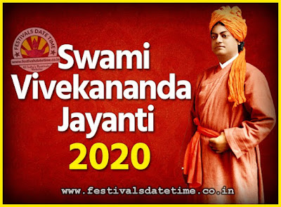 2020 Swami Vivekananda Jayanti Date & Time, 2020 National Youth Day Calendar