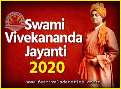 2020 Swami Vivekananda Jayanti Date & Time, 2020 National Youth Day Calendar