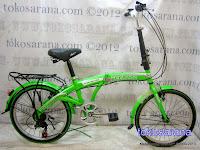 Sepeda Lipat Regazza RZ-2006AS2P 6 Speed 20 Inci