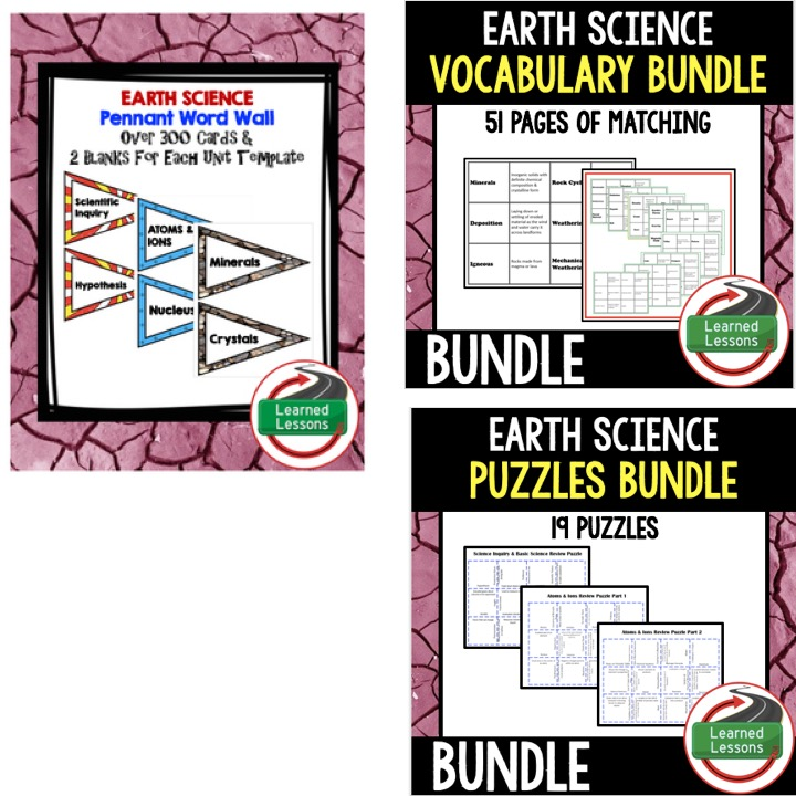 Earth Science Mega Bundle Earth Science Curriculum Anchor Charts