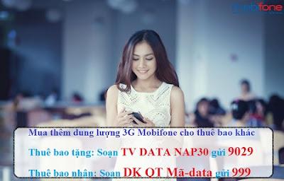 tặng data Mobifone