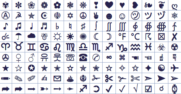 cross symbols for facebook