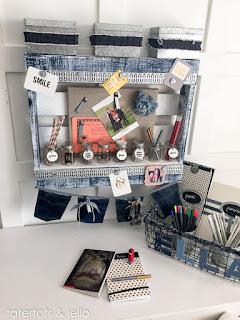 organizer con jeans fai da te