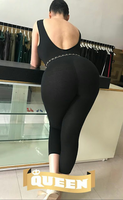 Former actress Caroline Danjuma shows off her massive butt in new photo