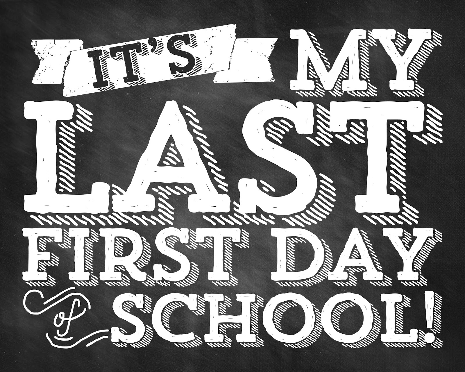Designs By Nicolina Free First Day Of School Download