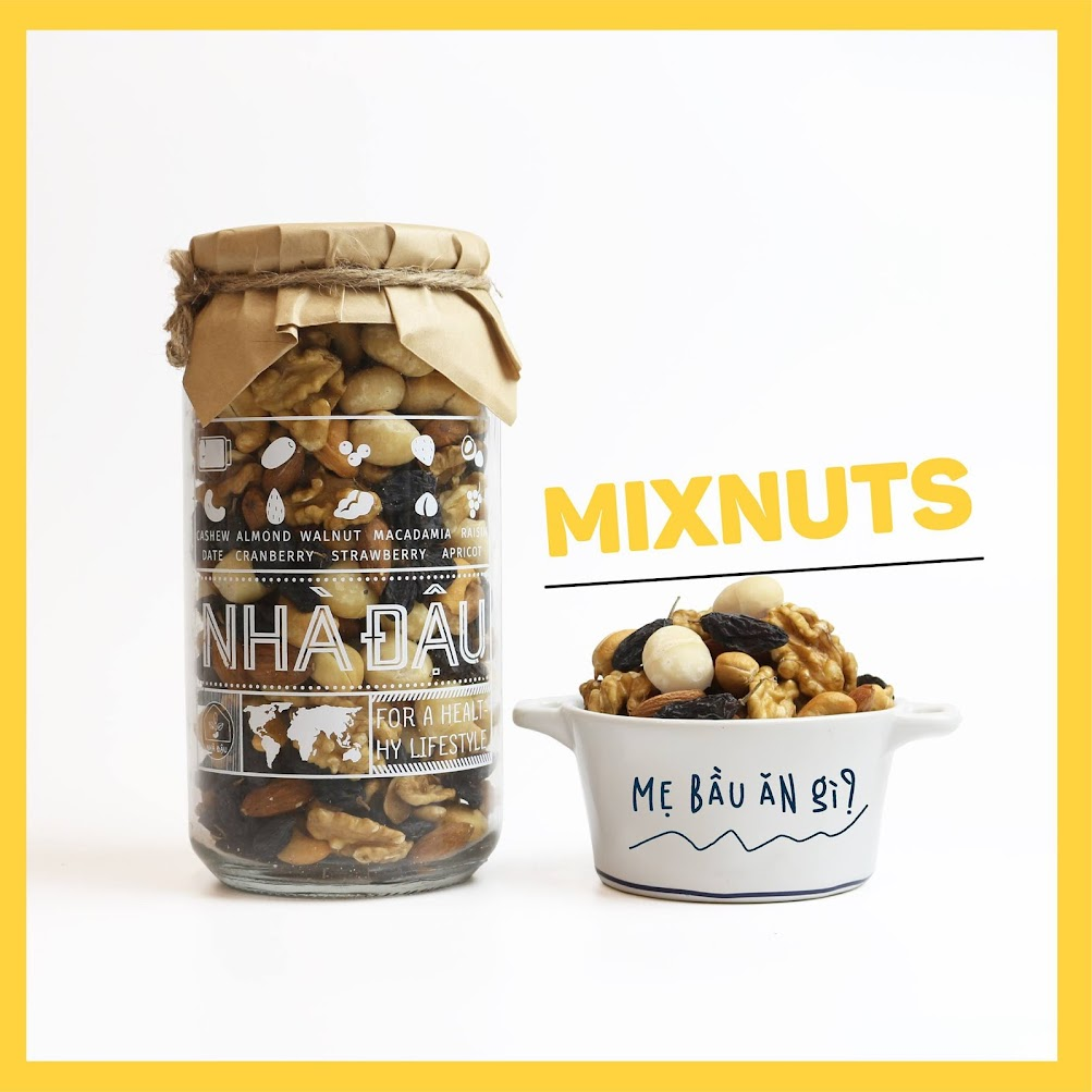 Bà Bầu ăn Mix hạt dinh dưỡng tốt cho thai nhi