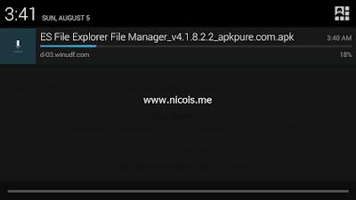 Download file APK melalui browser Tencent Gaming Buddy
