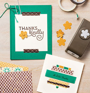 Stampin' Up! You Can Make It! Page 41 of the 2016-2017 Annual Catalog: One Big Meaning + Moroccan Washi Tape Cards #stampinup