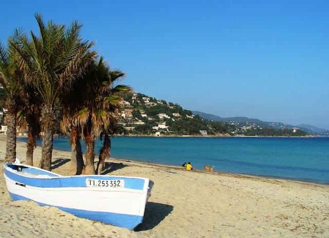 Praia des Huttes no sul da França