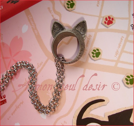 Collier Oreille de Chat Kitten Cat Kitty Necklace Kawaii