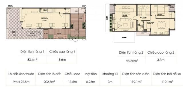 Mẫu biệt thự 1 - Tầng 3 và tầng áp mái An Phú Shop Villa