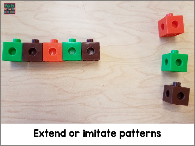 Manipulatives are perfect for working on patterning with students.