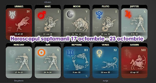 Horoscop 17 23 octombrie Fecioara, Scorpion, Sagetator, Capricorn, Varsator, Pesti