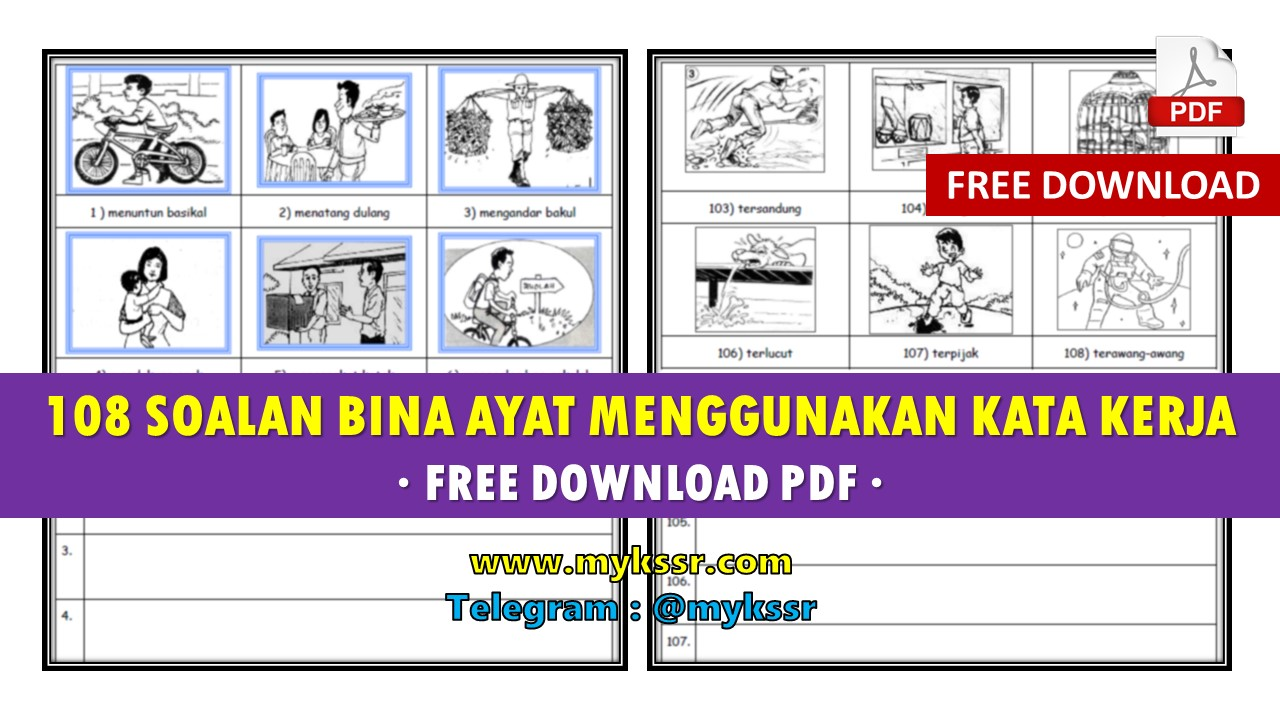 108 Soalan Bina Ayat Menggunakan Kata Kerja Free Download Pdf Mykssr Com