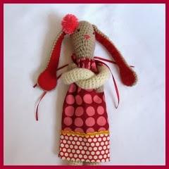 Conejita con vestido amigurumi