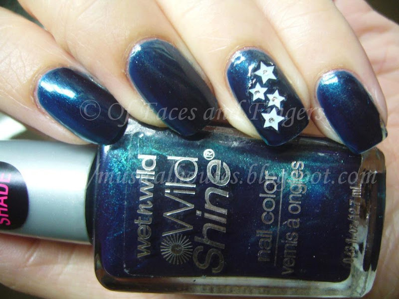 Wet n Wild Blue Moon Nailene Nail Stickers