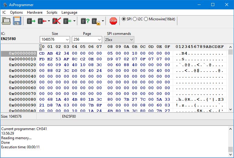 Aplicația AsProgrammer pentru CH341A